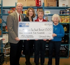 United Way of Wyoming Valley CEO Bill Jones at Mountain Top Food Pantry