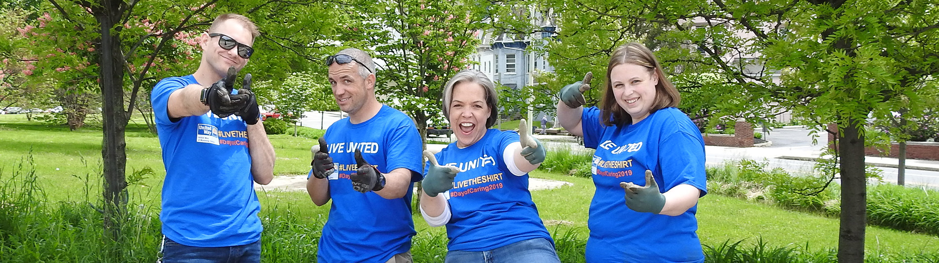 United Way of Wyoming Valley - Day of Caring - Cleaning up throughout the Wyoming Valley.