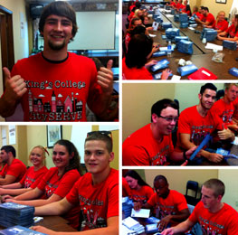 United Way of Wyoming Valley would like to thank the King's College freshman how helped with our plesge forms.